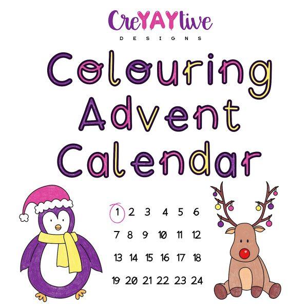 Colouring Advent Calendar