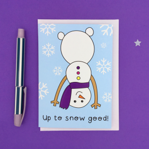 Silly snowman card product image square
